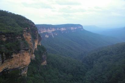 Falaise brodant le canyon