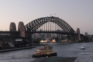 Harbour bridge au coucher du soleil