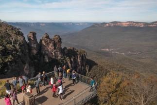 Les Three Sisters et... la foule de touristes