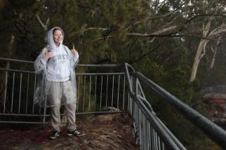 Lauriane qui, visiblement, apprécie beaucoup la douceur du climat australien