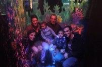 La petite familles à l'aquarium de St-Malo