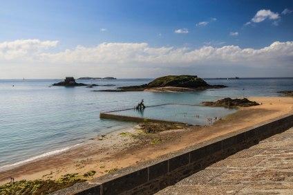 Plage du bon secours (petit Bé et grand Bé) à Saint Malo
